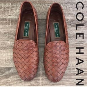 VTG Cole Haan Braided Woven Leather Loafers